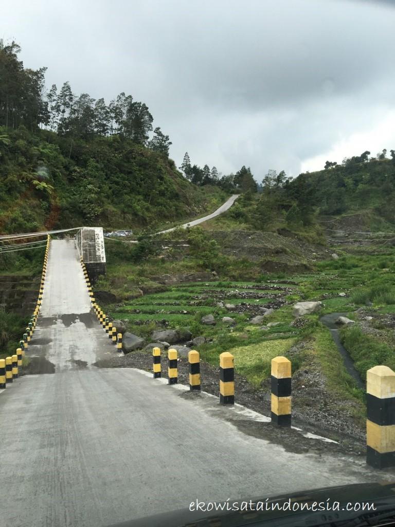 Spot Jalan Menuju Pendakian Gunung Merapi